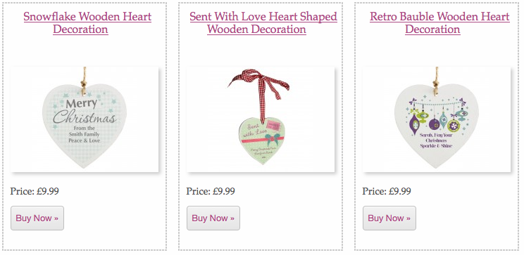 Wooden Personalised Christmas Baubles