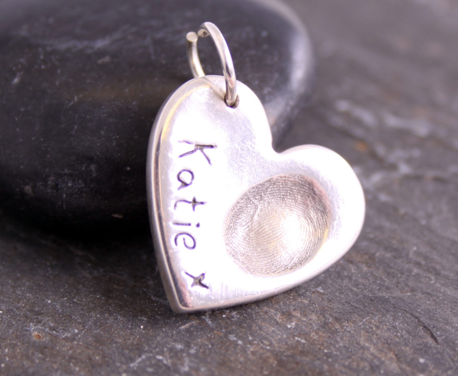 Single Fingerprint Charm