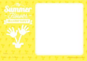 Summer Flower Certificate