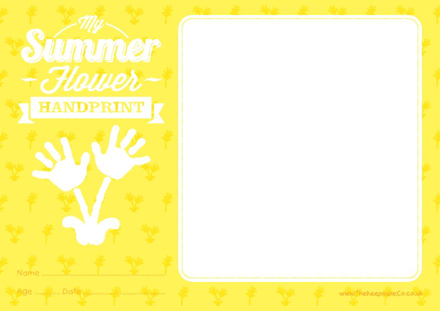 Summer Flower Certificate
