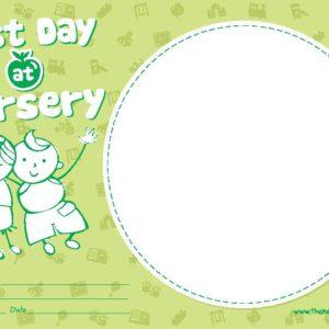 Last Day at Nursery Certificate