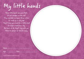 My Little Hands Certificate