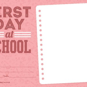 First Day at School Certificate
