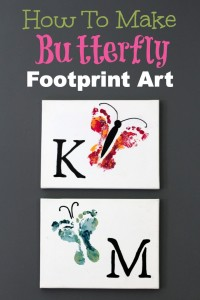 baby footprint butterfly art