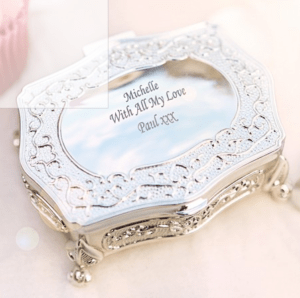Personalised Wedding Gifts For The Bride: Engraved Antique Trinket