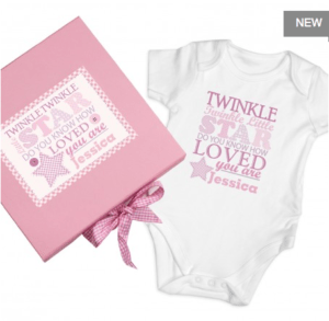 Personalised Keepsake Box: Personalised Pink Twinkle Keepsake Box Gift Set