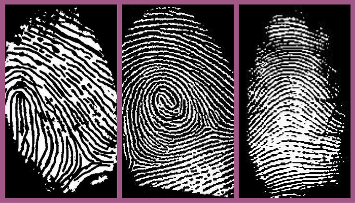 silver fingerprint jewellery prints