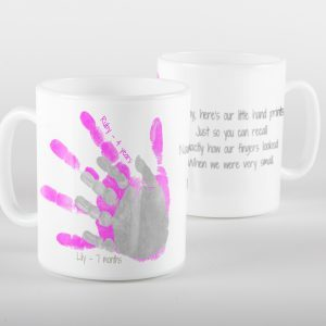 keepsake handprint overlay mug
