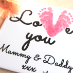 keepsake love you footprint tile