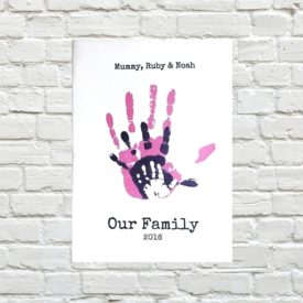 keepsake handprint picture