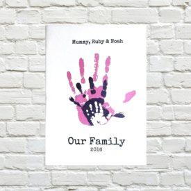 keepsake handprint picture