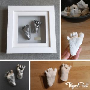 Baby Foot Casting: Tiger Feet Keepsakes - Baby Keepsakes