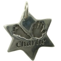 hand and footprint star jewellery